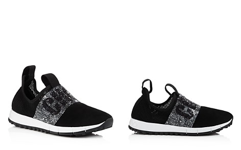 Jimmy Choo Women's Oakland Embellished Mesh & Suede Slip-On Sneakers - Bloomingdale's_2